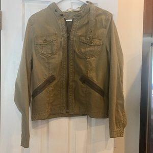 Army green utility jacket- Loft